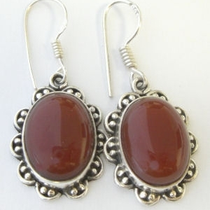 Carnelian Silver Earrings (CAE02)