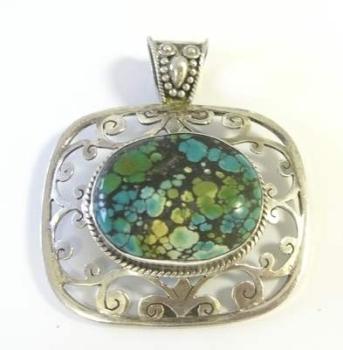 Turquosie Silver Pendant