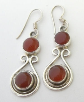 Carnelian silver  earrings