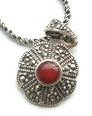 Carnelian Silver Necklace from Persia