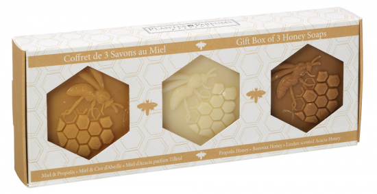 Honey Soap with Beeswax gift box made in Provence