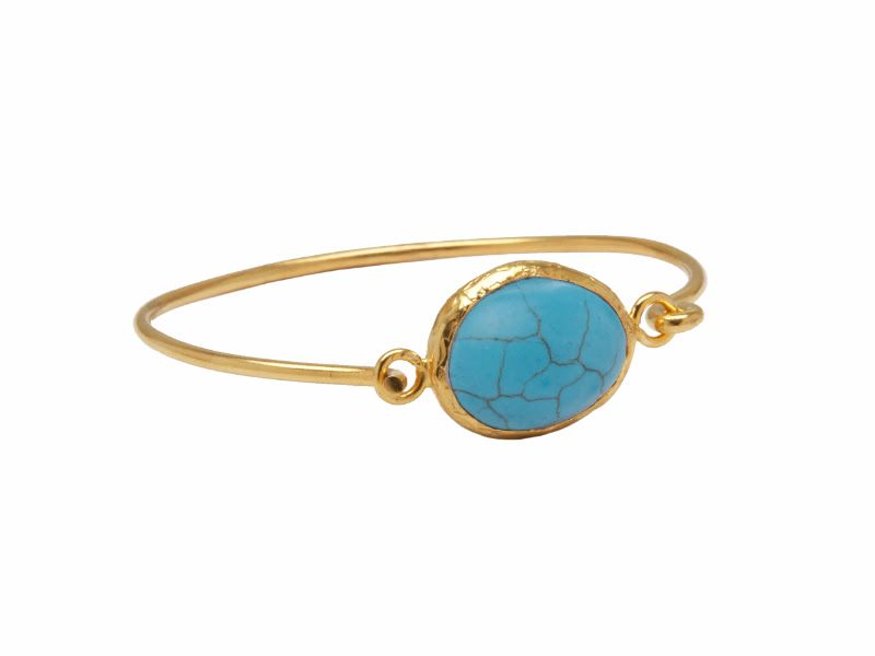 Bangle - Hook and stone - Turquoise
