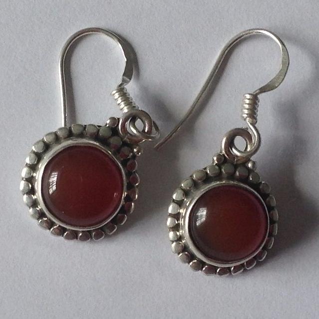 Carnelian Silver Earrings (CAER02)