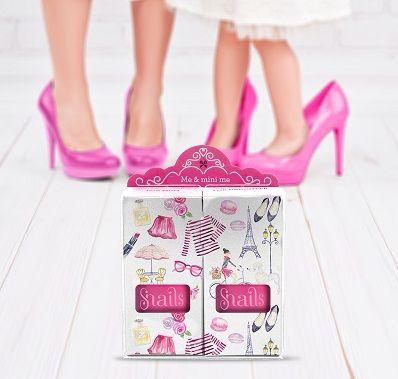 <!-- 020 -->Snails Nails Gift Box - ME & mini me - Pink