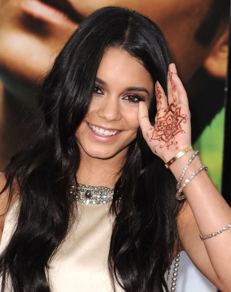 Vanessa with henna hand tattoo