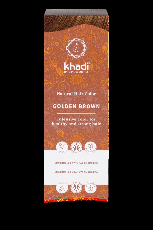 Herbal Hair Colour GOLDEN BROWN 100g  Khadi