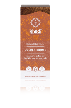 Herbal Hair Colour GOLDEN BROWN 100g  Khadi