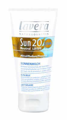 Lavera Neutral Sun Cream SPF20 - 75ml