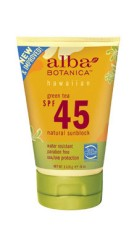 Sunscreen Alba Botanica Green Tea SPF45+