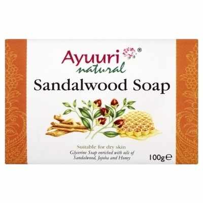 Sandalwood Ayuuri Natural Soap 100g bar Ayurvedic