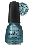 China Glaze Crackle  Nail Polish -  Oxidized Aqua