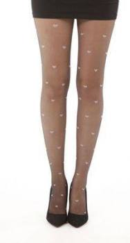 All over Hearts Tights - Pamela Mann - Black & Pink