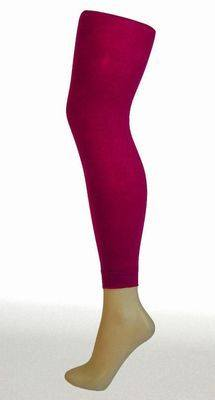 Footless Tights - 50 Denier Plain CERISE - Pamela Mann