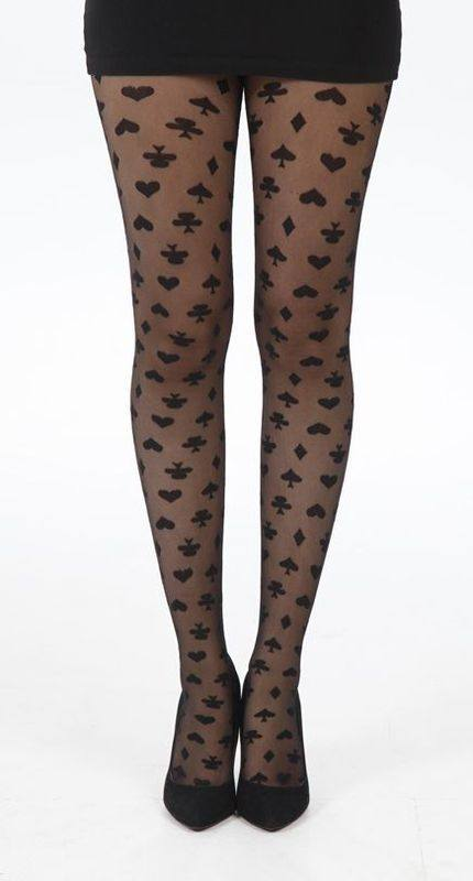 PM Black Playing Cards tights 5055419617597