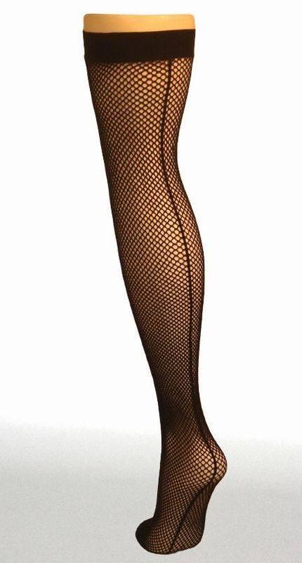 PM fishnet seamed stockings Black 5060217843697
