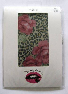 Leopard Print & Rose Pink Tights - Pop My Cherry