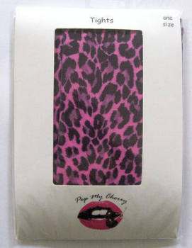 Leopard Print Pink Tights - Pop My Cherry