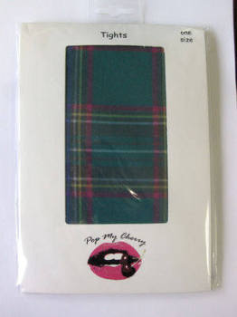 Green Tartan Tights - Pop My Cherry