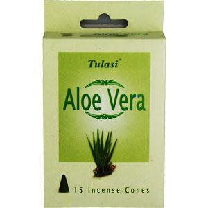 Incense Cones - Aloe Vera - Tulasi (15 Cones)