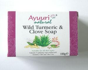 Wild Turmeric & Clove Ayuuri Soap 100g bar Ayurvedic (Turm1)