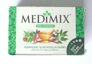 Medimix Herbal Ayurveda Natural  Soap 75g bar (med75)