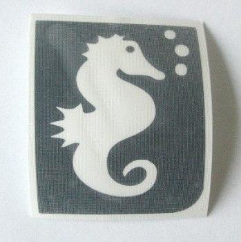 Seahorse Temporary Henna Tattoo