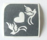 Heart & Doves Temporary Henna Tattoo