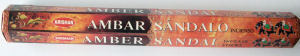 Amber & Sandalwood Incense Sticks (20 Sticks) Krishan
