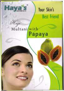 <!--025-->Multani (Fuller's Earth) with Papaya Face Pack Powder  - Haya