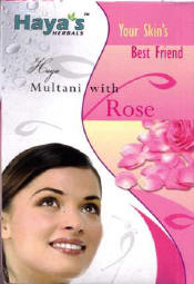 Multani (Fuller's Earth) with Rose Face Pack Powder - Haya