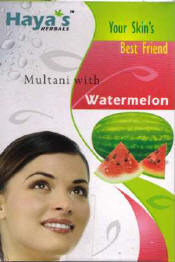 Multani (Fuller's Earth) with Water Melon Face Pack Powder- Haya