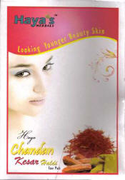 <!--023-->Chandan Kesar Haldi Face Pack Powder  - Haya