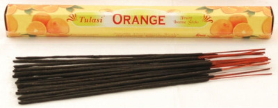 Orange Incense Sticks Tulasi  (20 sticks)