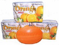NagChampa ORANGE Soap - 75g