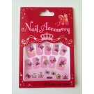 <!-- 102 -->Stickers for Nails - Perfect Princess  - Bows &amp; Tiara