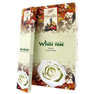 White Rose Incense Sticks  (15 Sticks) Box