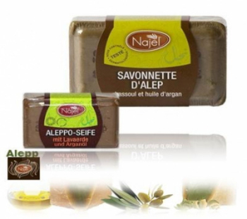 Aleppo Argon Oil Soap with Ghassoul 100g (023)