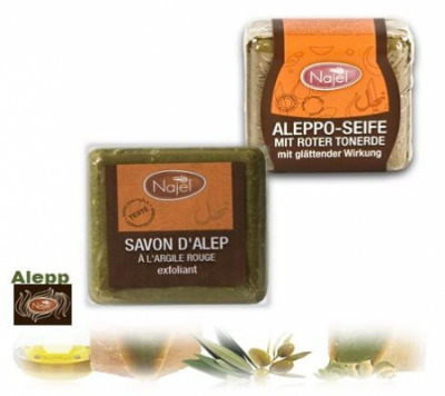 <!--033-->Aleppo Exfoliant  Red Clay  Soap 100g