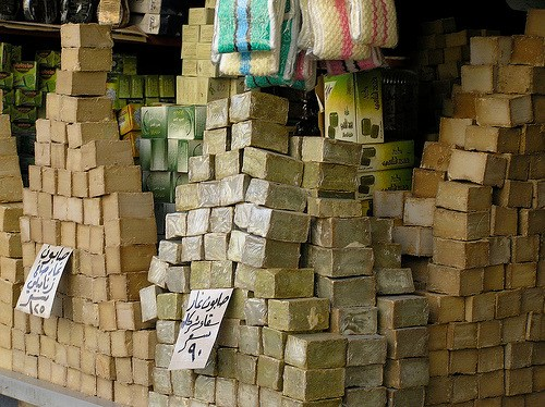 aleppo soap heaped