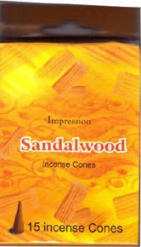 Incense Cones - Sandalwood (15 Cones)