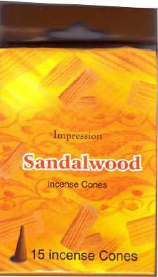 Incense Cones - Sandalwood (15 Cones)