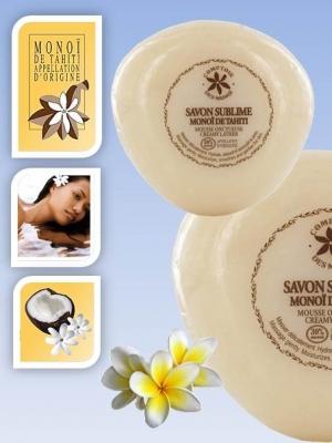 Tiare ( Gardenia )Cream  Soap Monoï de Tahiti 100 grams