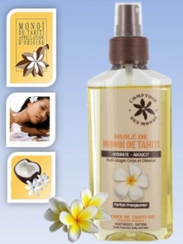 Skin/Hair care oil - in spray bottle - Frangipani  - 100 mls