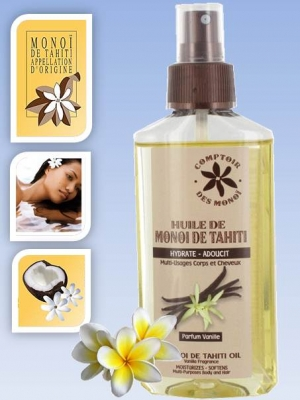 Skin/Hair care oil - in spray bottle - Vanilla - 100 mls