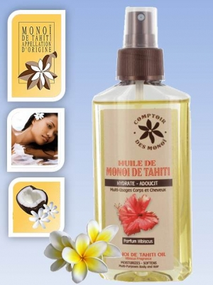 Skin/Hair care oil - in spray bottle - Hibiscus - 100 mls
