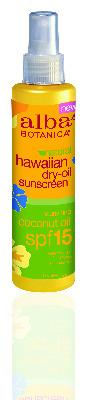 Coco Dry Tanning Oil  SPF15 Alba Botanica