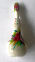 Eyeliner (Sormeh) Wood Container & applicator  White with Flowers (SB107)