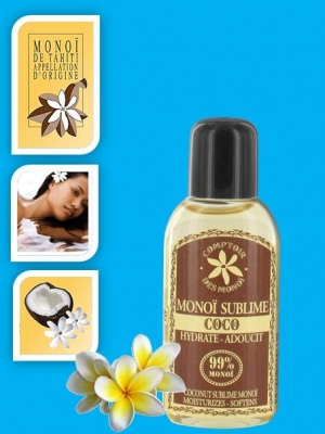 Monoï de Tahiti 99% skin/hair conditioning oil Coconut - 25ml