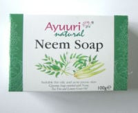 Neem Ayuuri Natural  Soap 100g bar (Neem1)