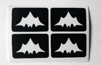 Bat temporary Henna Tattoo set of 4